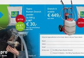 Actie Topro Rumen Drench en Drench It mobile