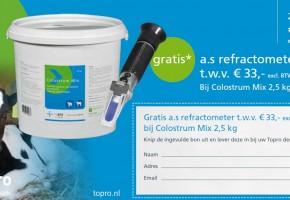 Actie: Gratis refractometer bij Colostrum Mix 2,5 kg!*